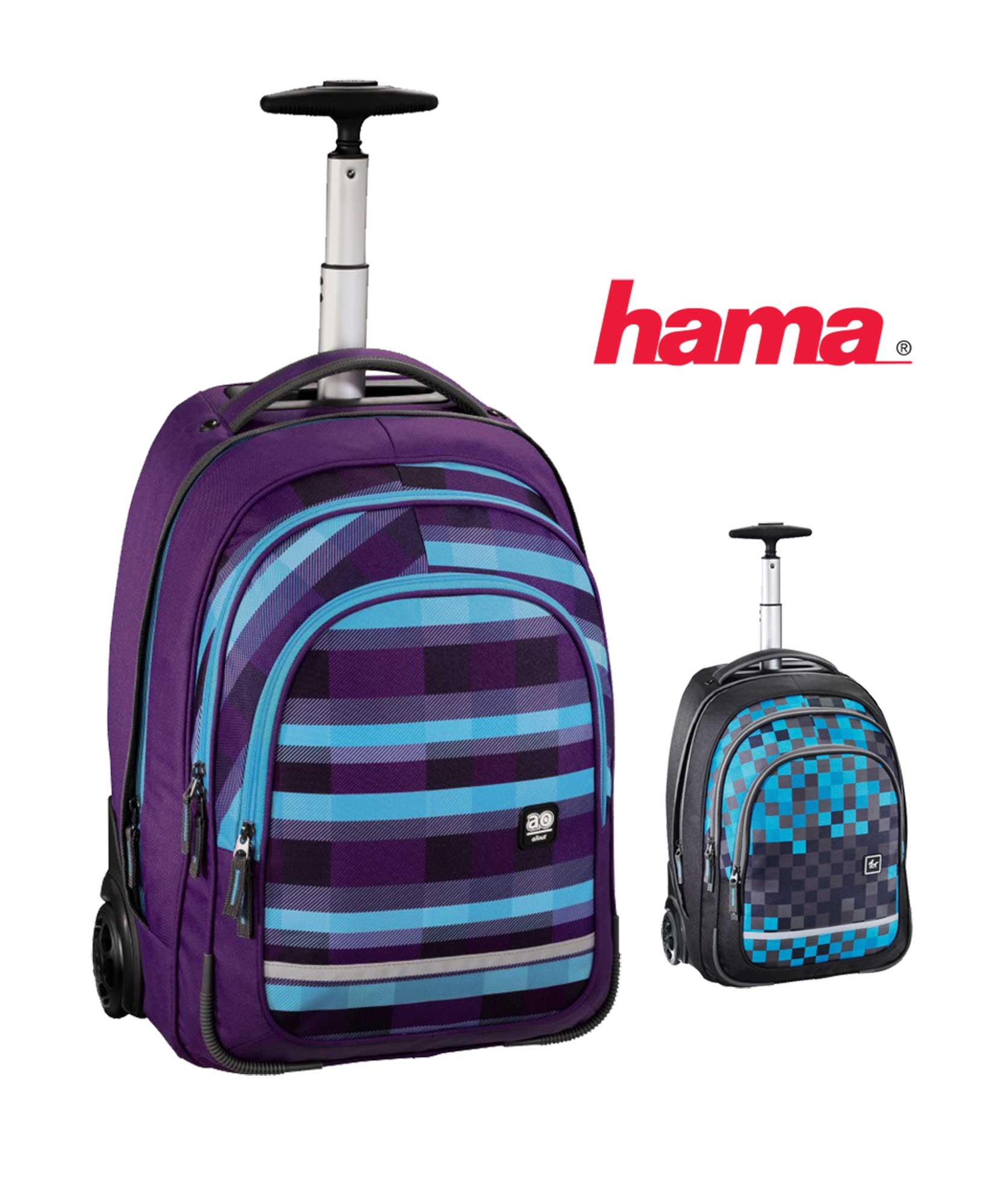 22efa1b9a7 Školská Školská taška na kolieskach fialová