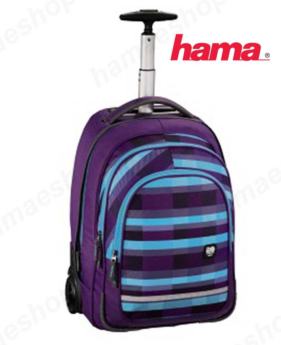 2abdcc40b4 Školská taška na kolieskach fialová predaj