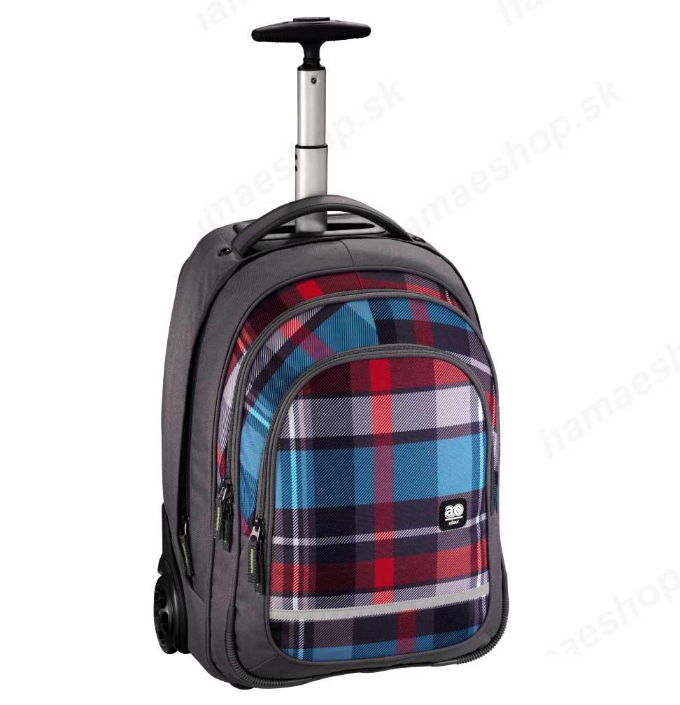 43b1485808450 Školská taška na kolieskach Summer Check Green predaj