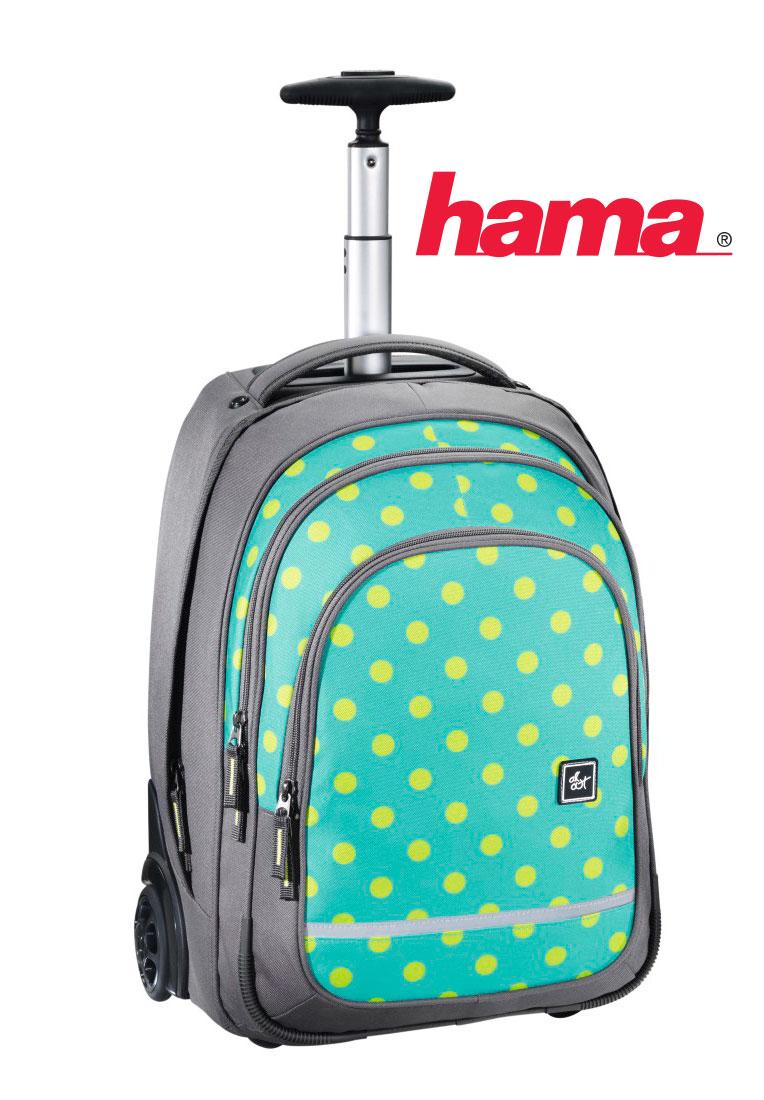 93320278d0 Školská taška na kolieskach Mint Dots predaj