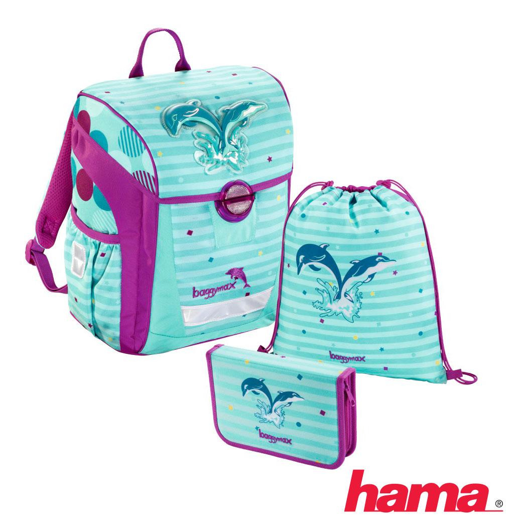 1528f9c7fa Školská taška pre prváka Trikky Delfíny 3-dielny set predaj