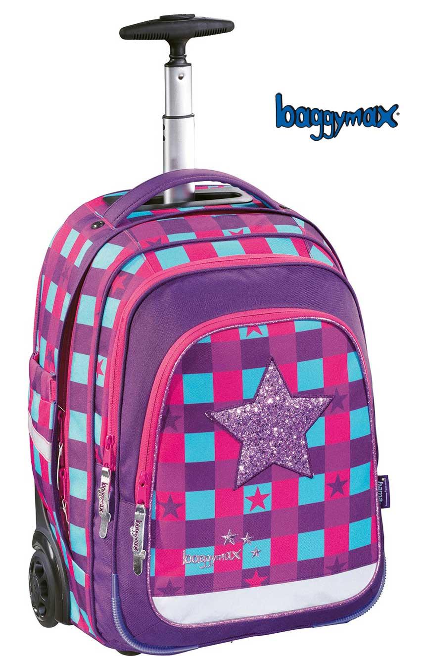 243be3a01b125 Školská taška na kolieskach Ružová hviezda HamaEshop