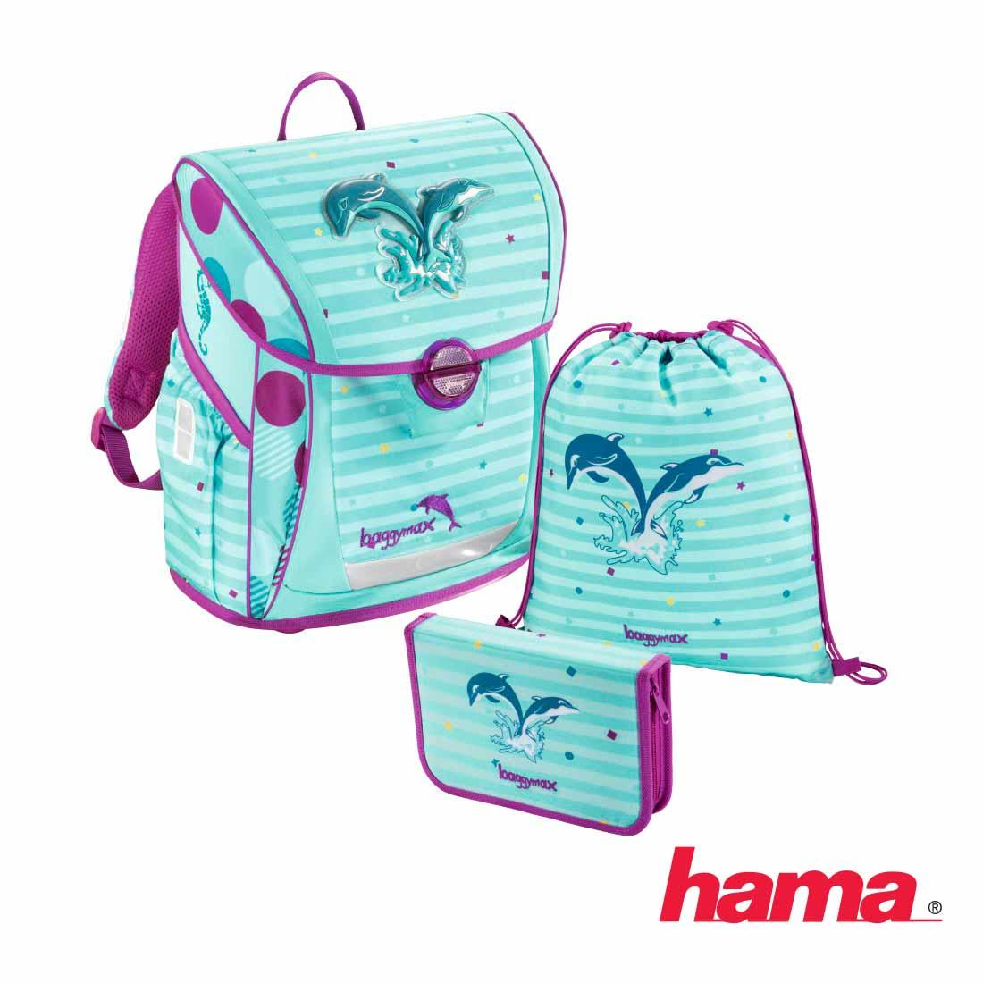 2d9a7111dd Školská taška pre prváka Fabby Delfíny 3-dielny set predaj