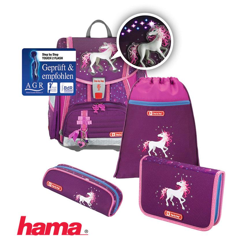 a7e7df1536 Školská taška Jednorožec Step by Step Flash blikačka 5- set certifikát AGR