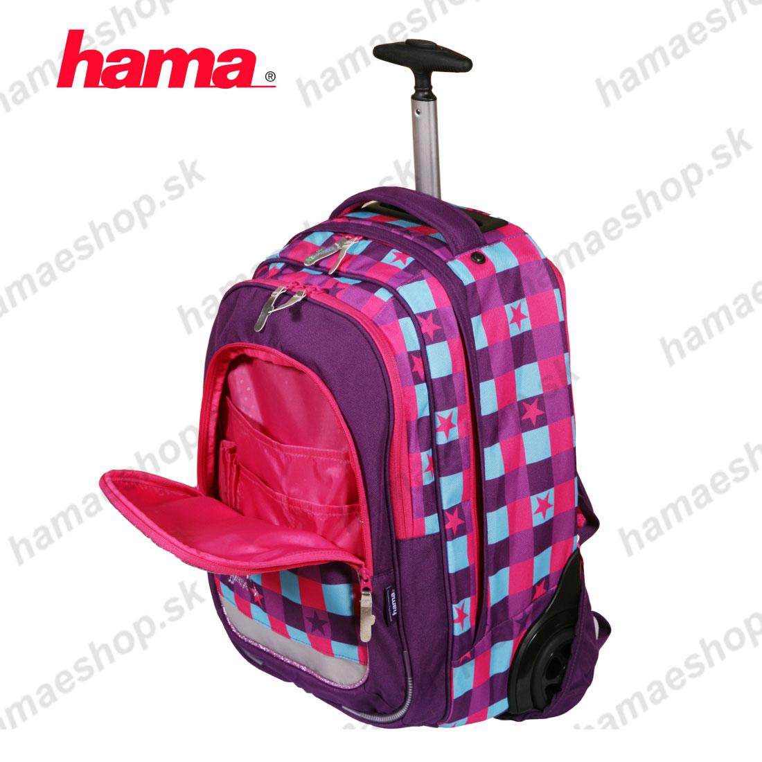 6650d638b92ca Popis. Školská taška na kolieskach Ružová hviezda ...