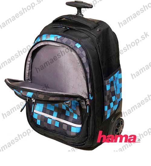 56f5ca71a0826 Školská taška na kolieskach Blue Pixel predaj