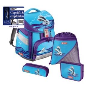 4bfeae5dc4 Školská taška Delfíny COMFORT 7-dielny set empty